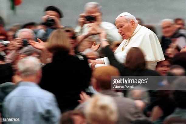 John Paul II among the crowd