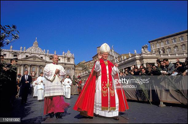 John Paul II celebrates the branches in Rome Italy on April 12 1992