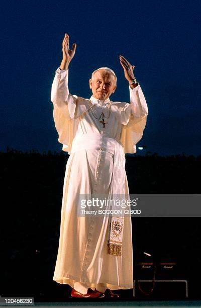 John Paul II in Lyon France in October 1986 At Gerland Stadium
