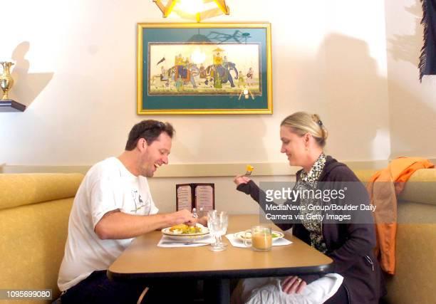 John Paul Jones and Amaraja Turzanski enjoy a Friday lunch at the Bali to Bombay in Boulder August 15 2008