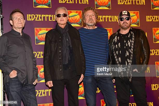 John Paul Jones Jimmy Page Robert Plant and Jason Bonham attend Led Zeppelin Celebration Day Press Conference on October 9 2012 in New York City Led...