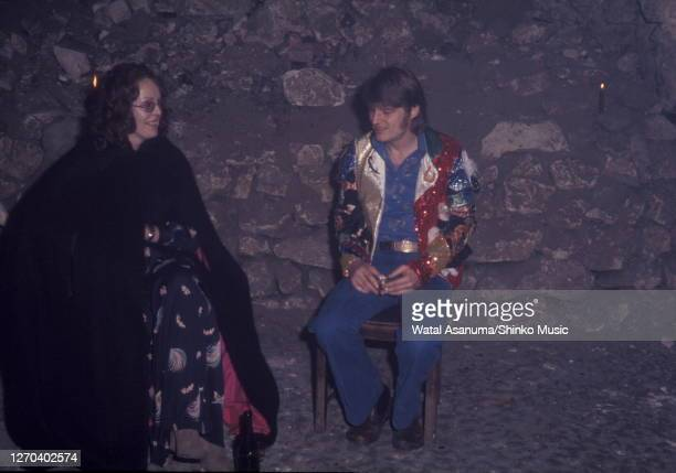 John Paul Jones of Led Zeppelin at a Swan Song Records party for the release of The Pretty Things' 'Silk Torpedo' album Chislehurst Caves Kent 31st...