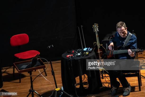 John Paul Jones of Led Zeppelin performs in Turin at Conservatorio Verdi during the Turin Jazz Festival
