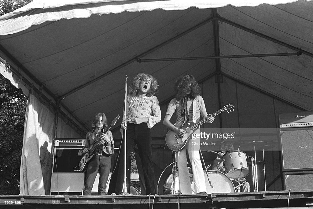 John Paul Jones, Robert Plant, Jimmy Page and John Bonham of Led Zeppelin at the Bath Festival, 1969