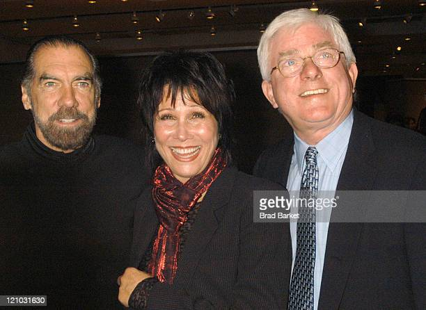 John Paul Michelle Lee and Phil Donahue during 2003 Creative Coaltion Spotlight Awards at Sotheby's in New York City New York United States