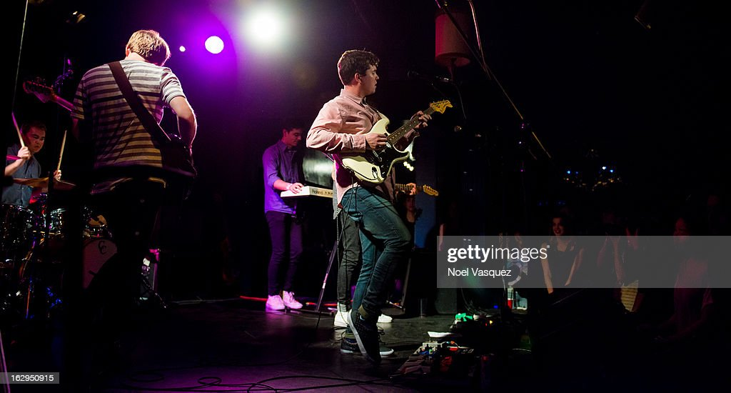 John Paul Pitts of Surfer Blood performs at The Echo on March 1, 2013 in Los Angeles, California.