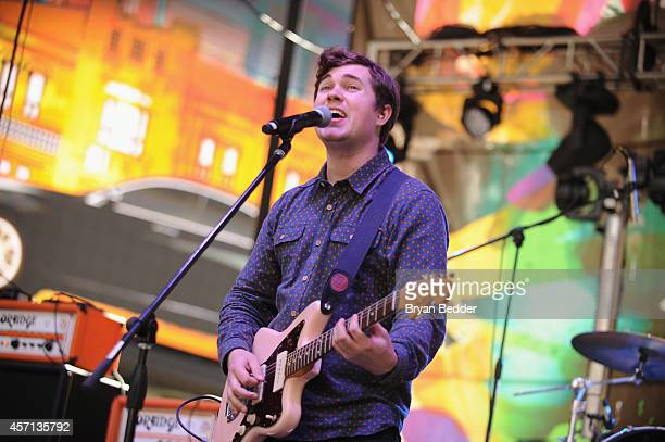 John Paul Pitts of Surfer Blood performs during CBGB Music Film Festival 2014 Times Square Concerts on October 12 2014 in New York City