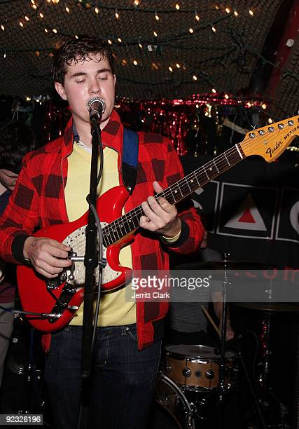 John Paul Pitts of Surfer Blood performs during SESAC's 2009 CMJ Showcase at Cake Shop on October 23 2009 in New York City