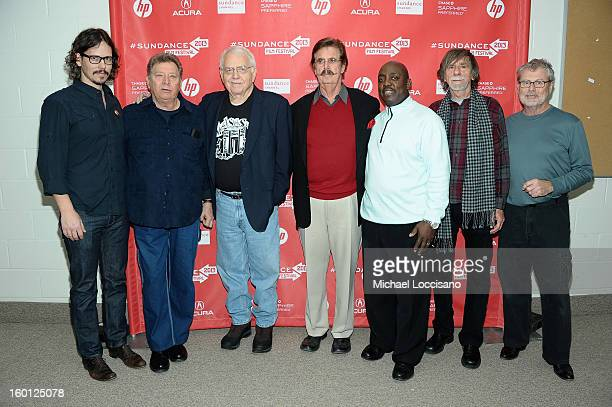 John Paul White Dan Penn Jimmy Johnson Rick Hall Jesse Boyce Dewey Lindon Oldham and David Hood attend the 'Muscle Shoals' Premiere during the 2013...