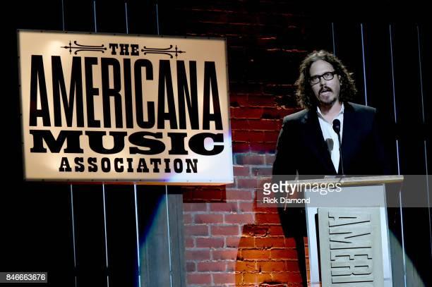 John Paul White speaks onstage at the 2017 Americana Music Association Honors Awards on September 13 2017 in Nashville Tennessee