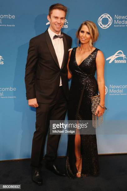 John Peers and Danielle Peers arrive at the 2017 Newcombe Medal at Crown Palladium on November 27 2017 in Melbourne Australia