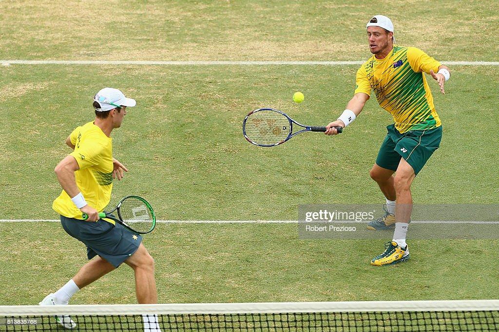 Davis Cup - Australia v USA : ニュース写真