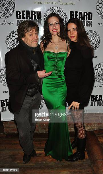 John Perry Barlow Natalie White and Katherine Armer attend the Beard At Work screening party at The Chelsea Room on February 3 2011 in New York City