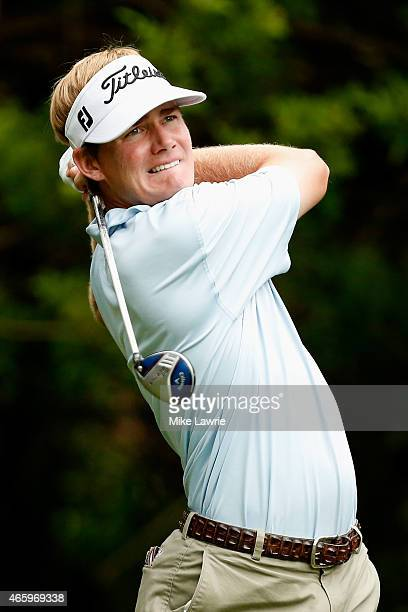 John Peterson hits off the third tee during the first round of the Valspar Championship at Innisbrook Resort Copperhead Course on March 12 2015 in...