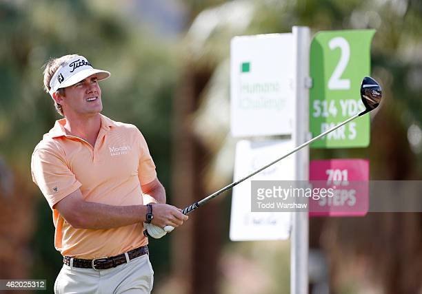 John Peterson of the United States tees off on the second hole during round two of the Humana Challenge in partnership with The Clinton Foundation on...