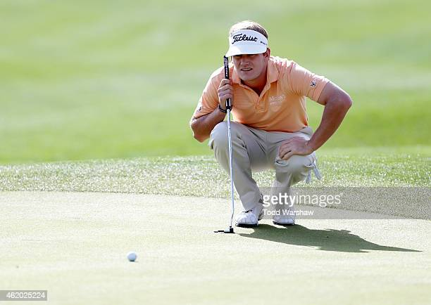 John Peterson of the US lines up a putt on the first hole during round two of the Humana Challenge in partnership with The Clinton Foundation on the...
