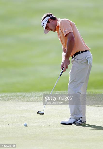 John Peterson of the US putts on the first hole during round two of the Humana Challenge in partnership with The Clinton Foundation on the Arnold...