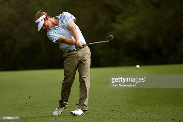 John Peterson plays a shot on the 11th hole during the first round of the Valspar Championship at Innisbrook Resort Copperhead Course on March 12...