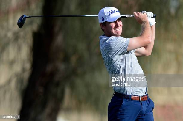 John Peterson tees off on the second hole during the first round of the Waste Management Phoenix Open at TPC Scottsdale on February 2 2017 in...