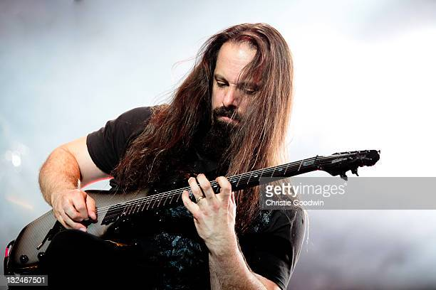 John Petrucci of Dream Theater performs on stage at High Voltage Festival in Victoria Park on July 24 2011 in London UK