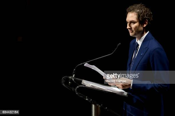 John Philip Jacob Elkann Italian businessman and chairman of Italiana Editrice SpA speaks during the celebration of 150th anniversary of the...