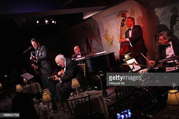 John Pizzarelli Quartet with a special guest Bucky Pizzarelli at Cafe Carlyle on Wednesday night April 10 2013This imageFrom left John Pizzarelli...