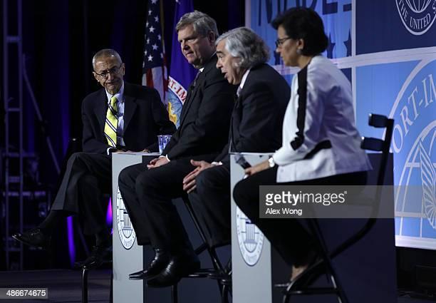 John Podesta counselor to President Obama US Agriculture Secretary Tom Vilsack Energy Secretary Ernest Moniz and Commerce Secretary Penny Pritzker...