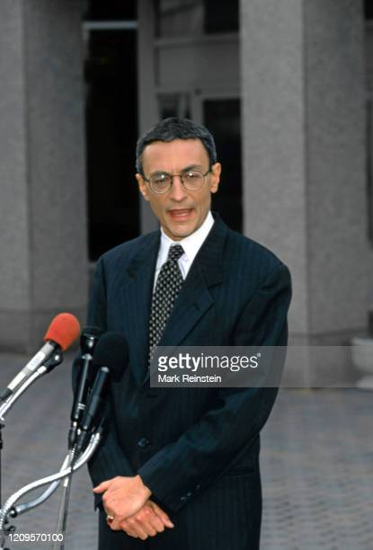 John Podesta deputy White House chief of staff talks to reporters outside CNN Studios about his testimony before the grand jury inquiry into an...