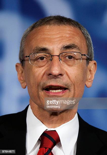 John Podesta president and chief executive officer of the Center for American Progress speaks at the ExportImport Bank Conference in Washington DC US...
