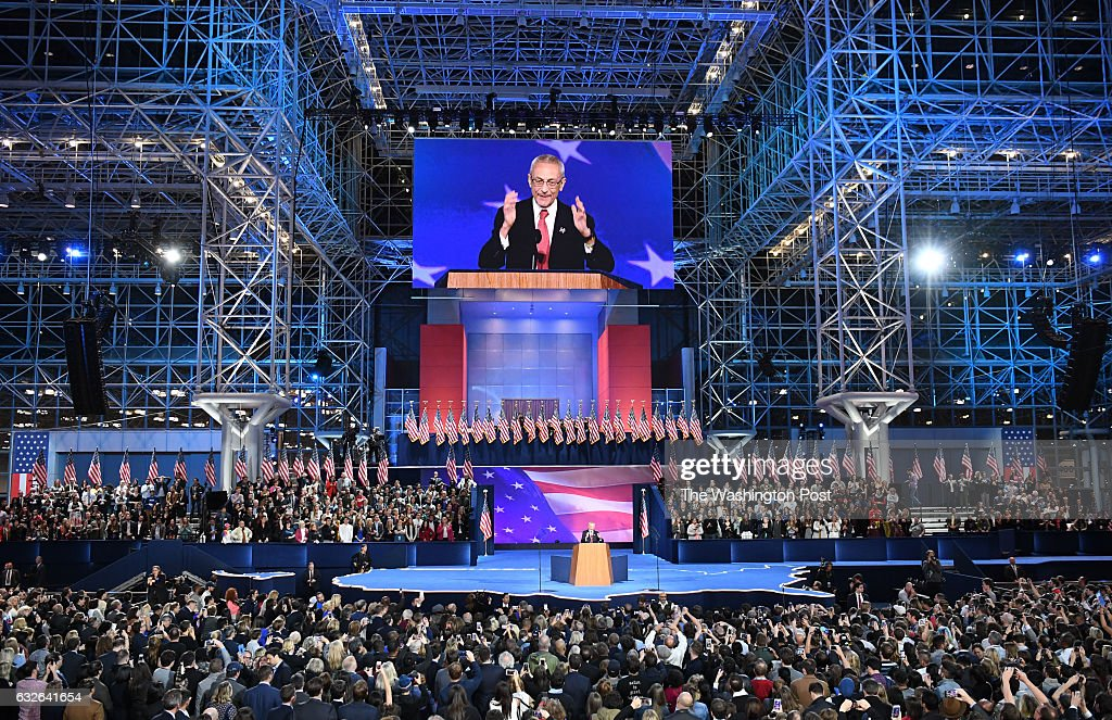 John Podesta speaks at the Javits Center November 8, 2016 in ...