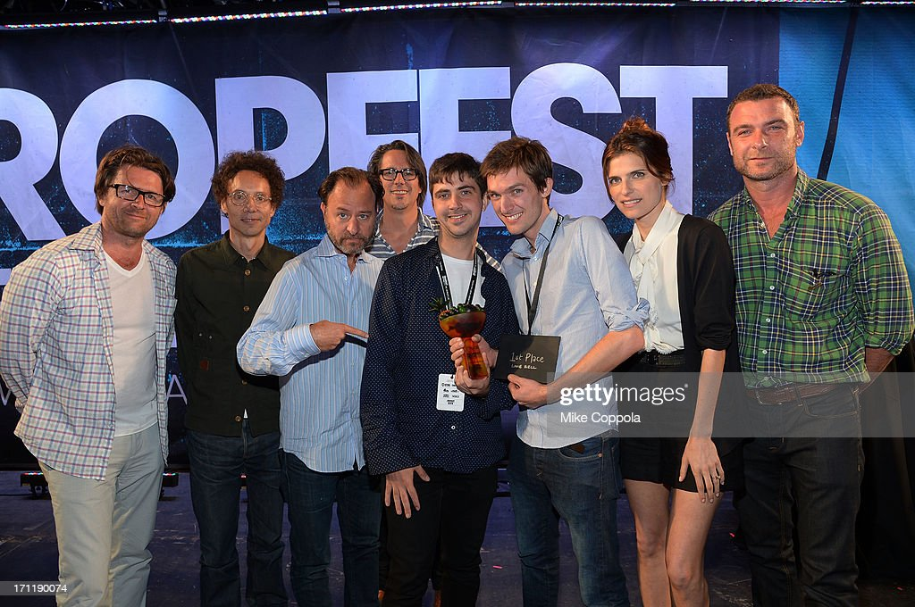 John Polson, Malcolm Gladwell, Fisher Stevens, Charles Randolph, Tristan Klein, Nick Baker, Lake Bell and Liev Schreiber attend Tropfest New York 2013, the world's largest short film festival, at Prospect Park on June 22 in Brooklyn.