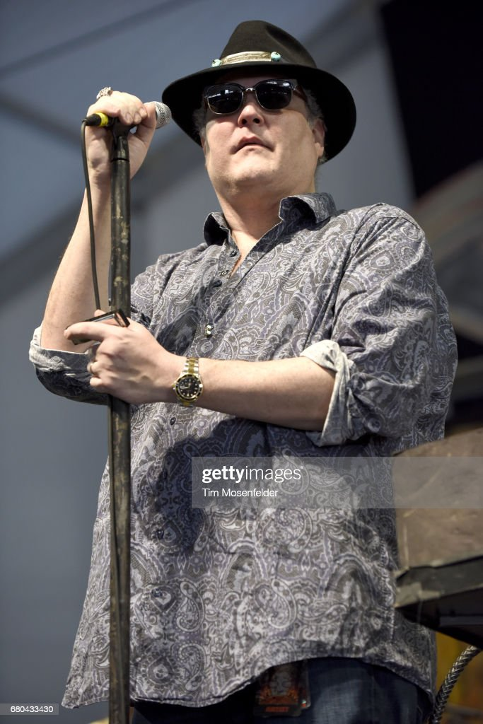 John Popper of Blues Traveler performs during the 2017 New Orleans Jazz & Heritage Festival at Fair Grounds Race Course on May 7, 2017 in New Orleans, Louisiana.