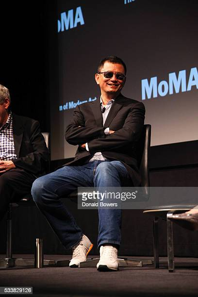 John Powers and Director Wong Kar Wai attend MoMA Modern Mondays Conversation With Wong Kar Wai at MOMA on May 23 2016 in New York City