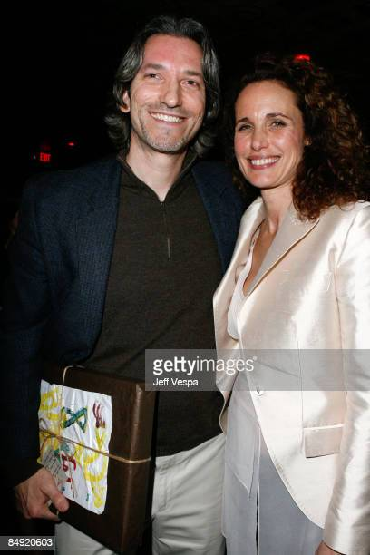 John Prendergast and Andie MacDowell attend the Children Mending Hearts Gala held at the House Of Blues on February 18 2009 in Hollywood California