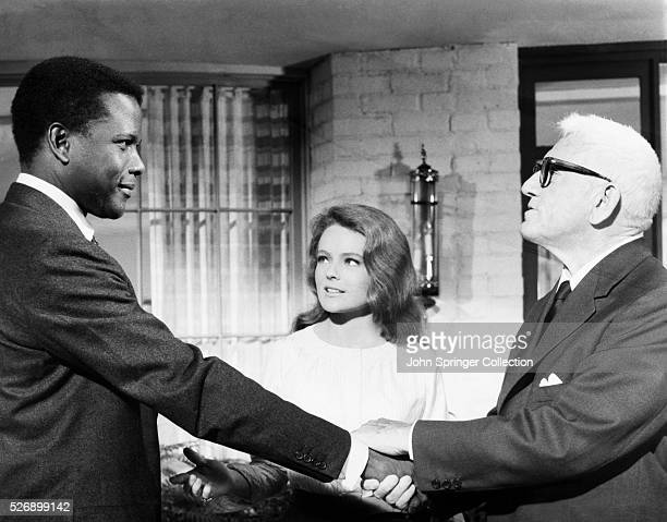 John Prentice is introduced to his fiancee Joey Drayton's father Matt Drayton in a scene from the 1967 film Guess Who's Coming to Dinner