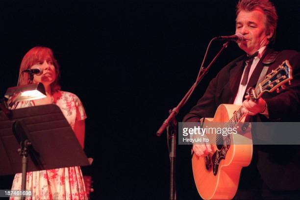 John Prine and Iris DeMent performing at Town Hall on Thursday night, September 16, 1999.