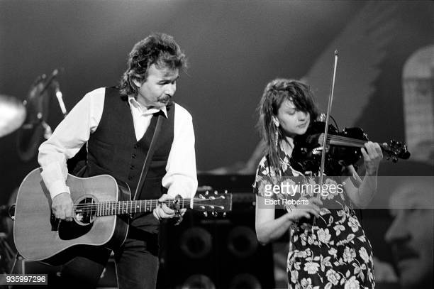 John Prine and Lisa Germano performing at Farm Aid at the Hoosier Dome in Indianapolis Indiana on April 7 1990