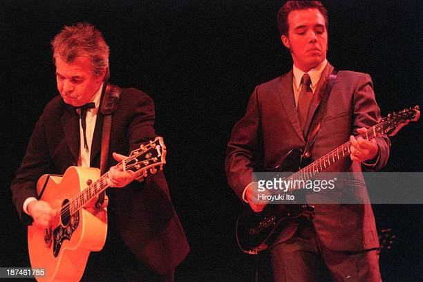 John Prine left and Jaosn Wilber performing at Town Hall on Thursday night September 16 1999