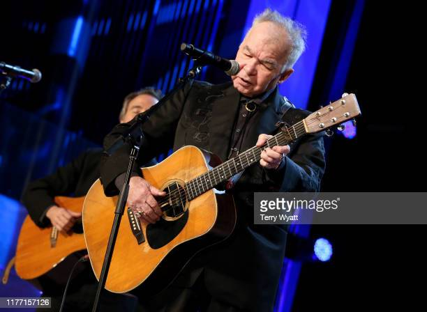 """John Prine performs at """"Songs That Tell a Story,"""" the final Marty Stuart Artist-in-Residence Show at Country Music Hall of Fame and Museum on..."""
