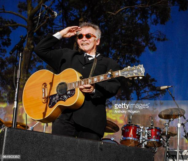 John Prine performs on stage at Hardly Strictly Bluegrass festival in Golden Gate Park San Francisco California on 2nd October 2009