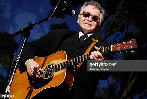 John Prine performs on stage at the Hardly Strictly Bluegrass festival in Golden Gate Park San Francisco California USA on October 2 2009 He plays a...