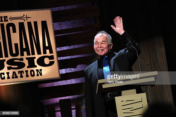 John Prine speaks onstage at the Americana Honors Awards 2016 at Ryman Auditorium on September 21 2016 in Nashville Tennessee at Ryman Auditorium on...