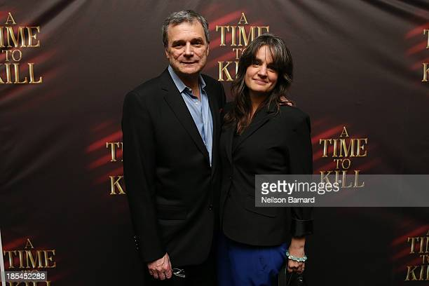John Procaccino and Pam MacKinnon attend the after party for the Broadway opening night of A Time To Kill at Bryant Park Grill on October 20 2013 in...