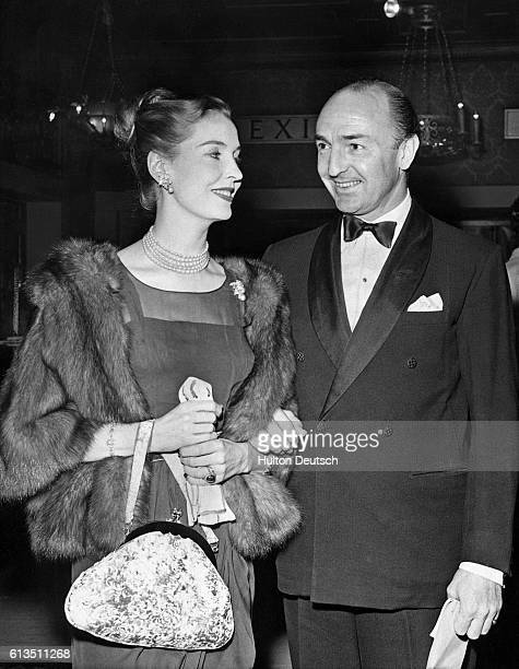 John Profumo British politician with Valerie Hobson his wife at the film premier of Frankenstein in 1958 At the time of the photgraph he was...