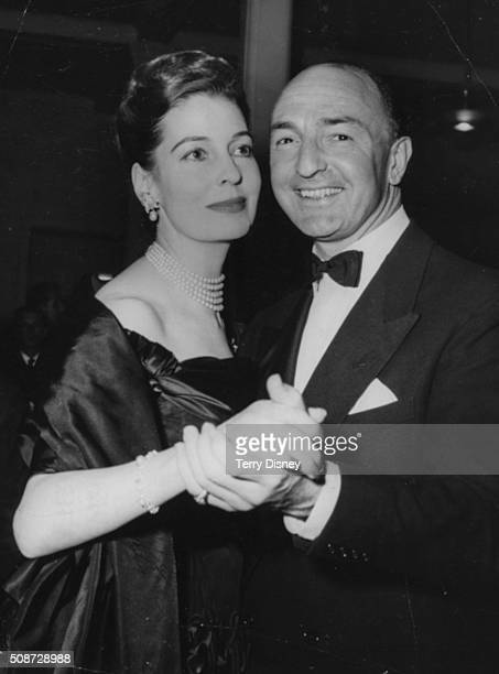 John Profumo Secretary of State for War dancing with his wife Valerie Hobson at a civic reception held at the Spa Ballroom in Scarborough October...