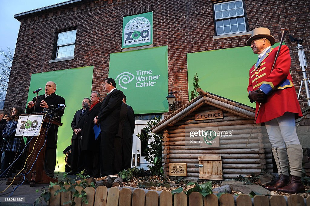 John Quigley, Regional VP of Operations in NYC for Time Warner Cable attends the 2012 Groundhog's Day celebration at the Staten Island Zoo on February 2, 2012 in Staten Island borough of New York City.