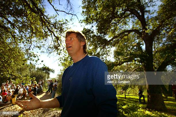John Quigley who recently sat in the threatened oak tree Old Glory'' in Stevenson Ranch until forcibly removed was guest speaker at a rally Saturday...