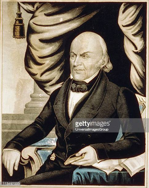 John Quincy Adams American diplomat and Sixth President of the United States of America 18251829 Currier Ives lithograph