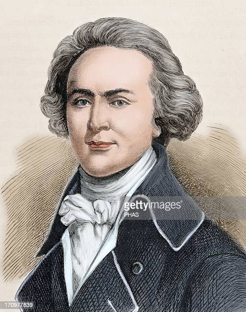 John Quincy Adams American politician and diplomat Sixth President of the United States Colored engraving 19th century