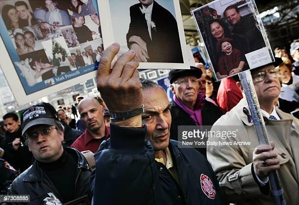John Quinn who lost his friend Joyce Ann Carpeneto and Albert Petrocelli who lost his son Mark in the 9/11 terror attack at the World Trade Center...